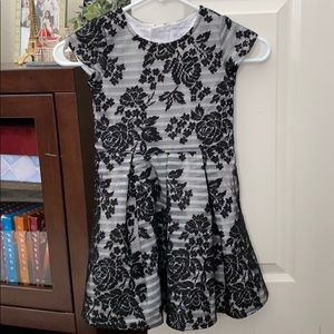 Black and white lace girl's dress